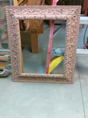 Antique Wood Carved Victorian Picture Frame Large 24X28 1800's as found RARE