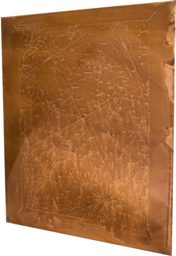 VERY RARE 1939 USGS ANTIQUE COPPER MAP PRINTING PLATES PLAINFIELD, VERMONT