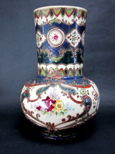 CHINESE ANTIQUE 19TH CENTURY LARGE PORCELAIN FAMILLE VERTE VASE