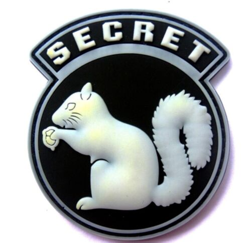TOP SECRET SQUIRREL BLACK OPS ARMY CIA DEVGRU DELTA SF PVC Hook/Lp PATCH WHITEOther Current Military Patches - 36070
