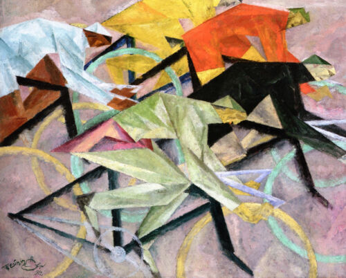 Bicycle Race  by Lyonel Feininger   Giclee Canvas Print Repro