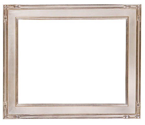 8 x 10   Picture Frame Hand Applied Silver Leaf Gallery Finish Super Nice