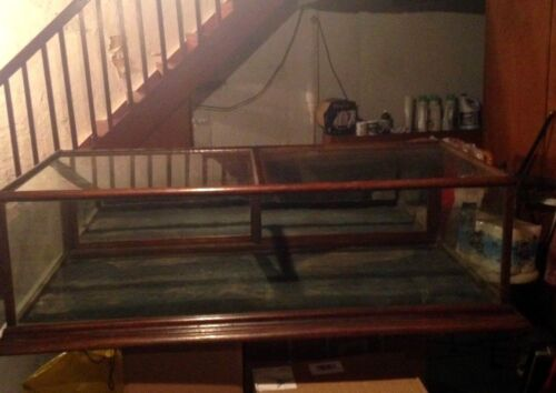 Early 1900's Counter Top Oak Framed 5 Foot Glass Display Case