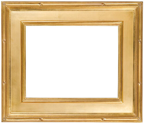 8 x 10 Picture Frame Hand Applied Gold Leaf Finish Gallery Style Awesom Quality