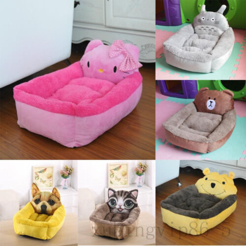 3D Printed Cartoon Style Super Soft Warm Pet Dog Cat Bed Kennel Mat Pad Washable