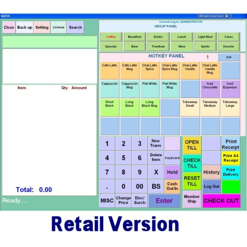 SAXPOS Point of Sale Software POS Retail-Convinience, Gift, Pet, Clothing Shops