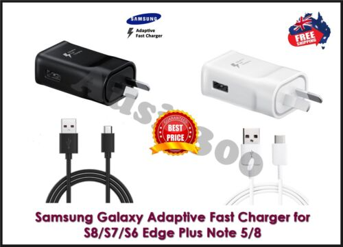 Genuine Samsung Galaxy S8 S9 S10 S20 / Note8 9 Fast Wall Charger & Type-C Cable