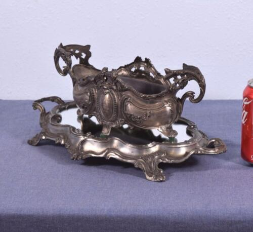 Antique French Louis XV Centerpiece with Jardiniere & Mirror Plateau