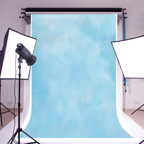 Solid Light Blue Portrait Photography Backgrounds 5x7ft Vinyl Photo Backdrops