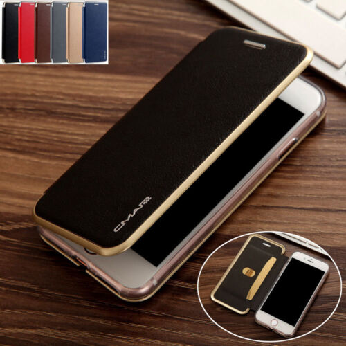 For Samsung Galaxy S7 Edge Flip Leather Wallet Card Slim Case Magnetic Cover