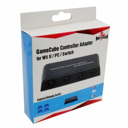 MAYFLASH 4 Ports GC Wii U GameCube Controller Adapter for Switch Wii U PC USB