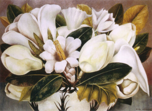 Magnolias  by Frida Kahlo  Giclee Canvas Print Repro