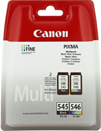 Cartucce ORIGINALI CANON PIXMA PG-545 BLACK  PG-546 COLOR