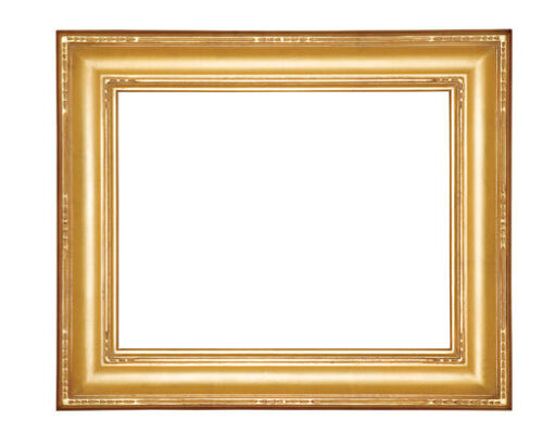6 x 8   Picture Frame HandApplied Gold Leaf Finish Gallery Style Classic Beauty
