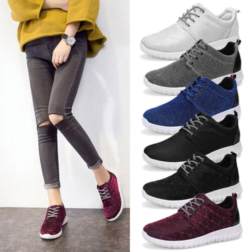 Women Athletic Breathable Running Sneakers Sports Walking Glitter Shoes Trainers