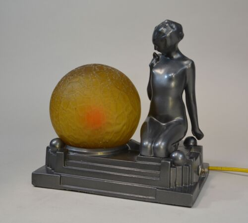 Hard To Find Gazing Nude Frankart Deco Lamp