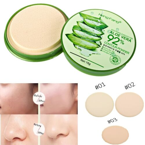 Foundation Makeup Aloe Oil Control Moisture Smooth Face Powder Concealer Beauty