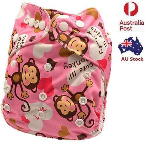Baby Girl Modern Cloth Nappy Girlie Cloth Nappies Girls Nappy Free Liner (D22)
