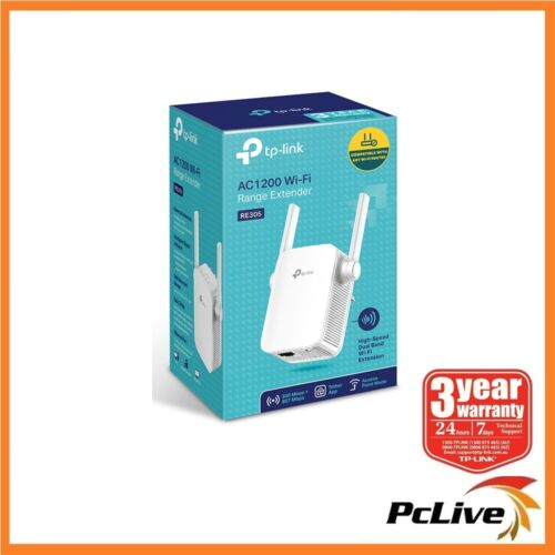 TP-Link RE305 1200Mbps Dual Band WiFi Range Extender Wireless AC Access Point