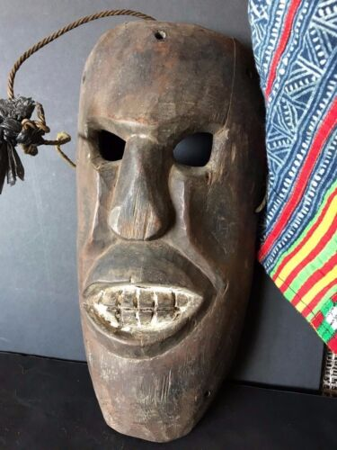 Old Tibetan / Nepalese Carved Wooden Mask (b) …beautiful age & patina