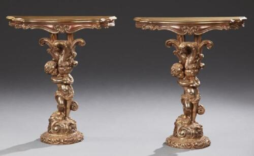 Pair of Continental Style Side Tables, 20th c. Lot 290M