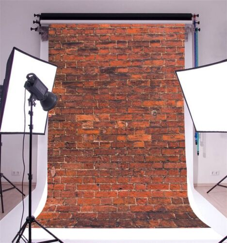 Red Brick Wall Photography Backgrounds 5x7ft Vinyl Photo Backdrops