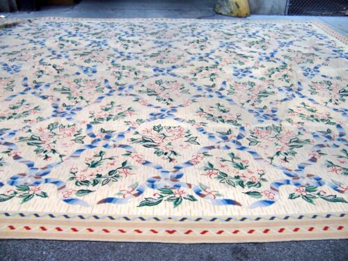 "Very large portugese needlepoint carpet 18 x 21 ft (17'11""x20'9"") circa 1940's"