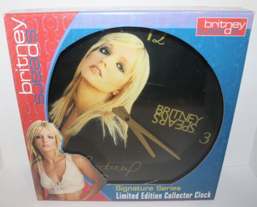 Britney Spears Signature Series Limited Edition Collector Clock Brand New 2002