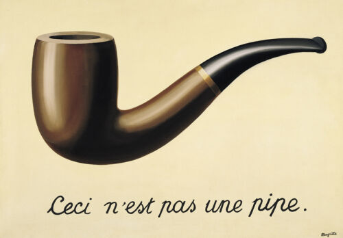 The Treachery of Images   by Rene Magritte  Giclee Canvas Print Repro