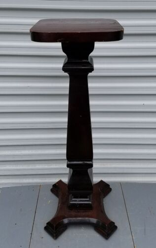 Antique Pillar Style Solid Wood Pedestal Plant Stand/Table Vintage