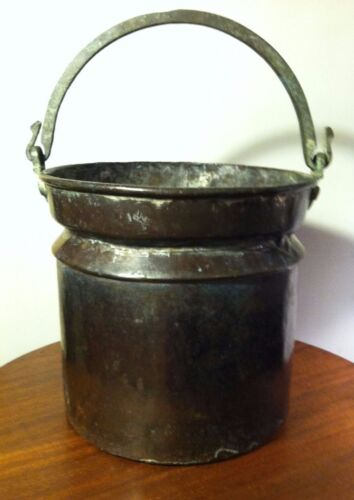1800's Copper Fur Trade Trap Metis Cooking Pot HBC Hudsons Bay Company Era Tea