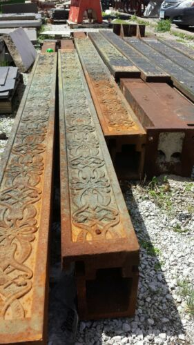 Younkers Support Columns (8) Cast Iron Steel Beams Art Deco Architectural Floral