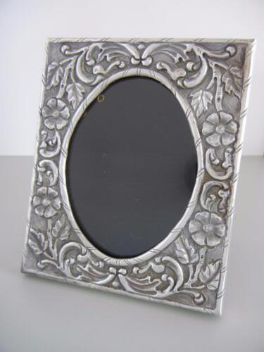 "Vintage Sterling 5 X 4"" Standing Picture Frame Greece Hand Repousse 62 Grams"