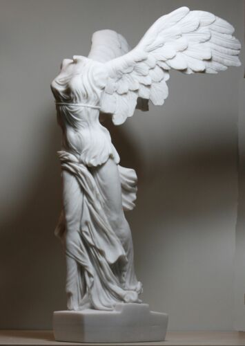 Winged Nike Victory of Samothrace Cast Marble Greek Statue Sculpture 14.17in