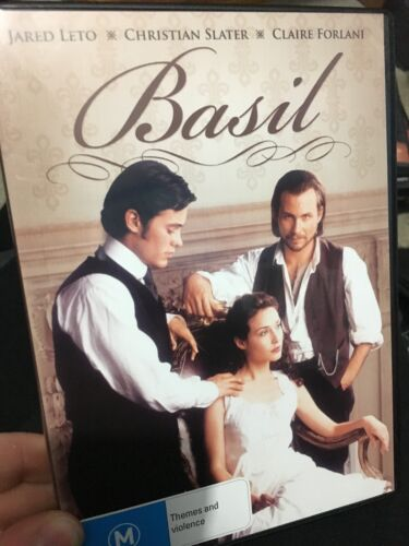 Basil region 4 DVD (1998 Jared Leto / Christian Slater drama movie) * rare *