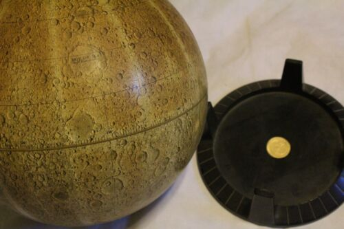 "Vintage REPLOGLE LUNAR GLOBE 12"" Desktop Globe With Stand Meredith Corp. MOON"