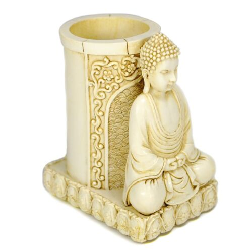 "BUDDHA PEN HOLDER 4"" Pencil Statue Desk Buddhist Deity NEW HIGH QUALITY Desktop"