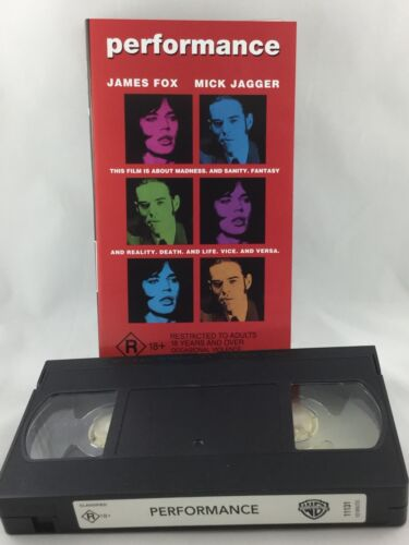 MICK JAGGER JAMES FOX PERFORMANCE R RATED VHS MOVIE WARNER BROS