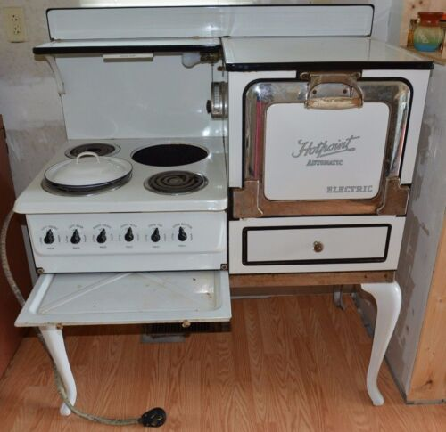 Nice! Attractive Antique 1920s-1930s Era GE Hotpoint Electric Stove-Three Burner