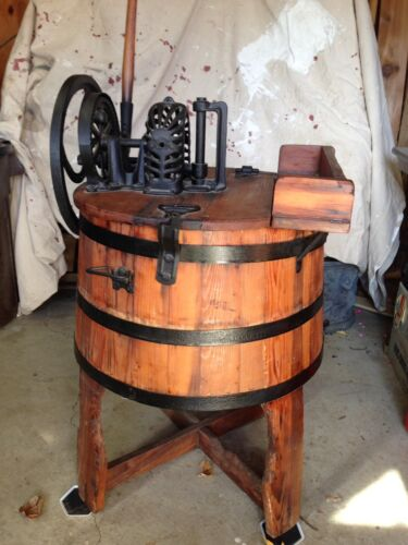 Antique Dexter Wooden Hand Operated Washing Machine