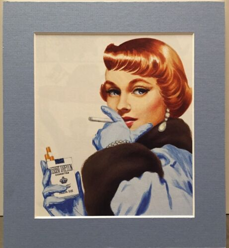VINTAGE CIGARETTE AD By ALEX ROSS Pro Matted Print Kingdom Come Pinup 1950's