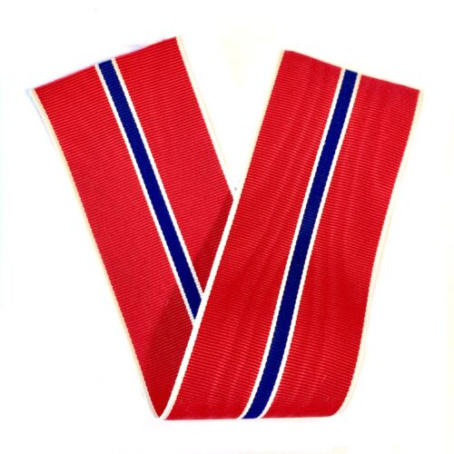 """WWII U.S. BRONZE STAR MEDAL RIBBON DRAPE 6 INCH LENGTH VINTAGE """"NEW OLD STOCK""""Medals & Ribbons - 4724"""