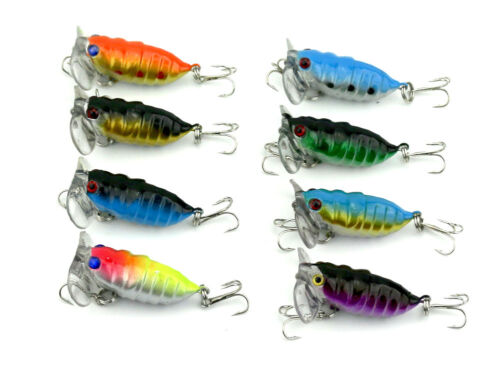 5 x Large 100mm Popper Soft Frog Fishing Lure Surface Barra Lure Cod Trout Bass