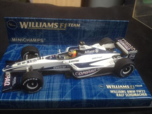 Minichamps - voiture Williams BMW FW22 - Williams F1 Team - Ralf Schumacher