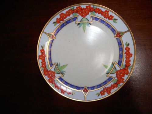 A  JULIUS H BRAUER HAND PAINTED PLATE ART DECO PERIOD