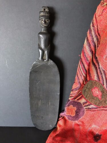Old Borneo Dayak Carved Ebony Scoop …beautiful collection item
