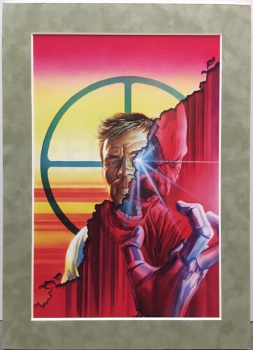 THE BIONIC MAN By ALEX ROSS Matted Print Dynamite Comics Lee Majors 6 Million $