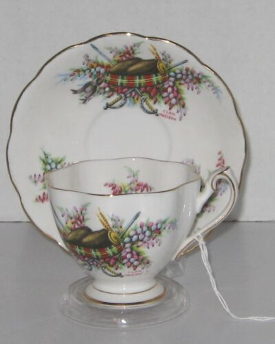 Vintage Queen Anne Glengarrys bone china tea cup and saucer