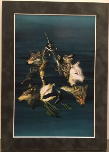 GAME OF THRONES By ALEX ROSS Matted Print JON SNOW STARK  George R.R. Martin
