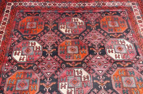 c1920s ANTIQUE HIGHLY DETAILED PRSIAN TURKOMAN ERSARI MAIN CARPET RUG 5.6x9.10